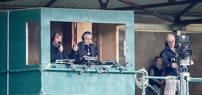 Stuart McCall and Derek Rae in the TV comm box