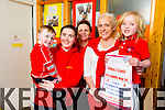 Glow Hearts for Crumlin fundraiser - The Launch of Kerry Students Wear Red in aid of the Children's Heat Centre at Our Lady's Children's Hospital Crumlin on Thursday 26th March 2015. Pictured Sean Dowling, Sinead O'Connor, Sharon Brosnan, Sally Sheridan and Zack  Whelan, who also has a heart defect