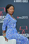 Beausson Diagne Nadege poses at a photocall for the TV series 'Peps' during the 55th Monte Carlo TV Festival on June 13, 2015 in Monte-Carlo, Monaco