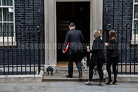 Larry (10 Downing Street cat and Chief Mouser to the Cabinet Office).<br /> <br /> London, 12/06/2017. Today, Theresa May's reshuffled Cabinet met at 10 Downing Street after the General Election of the 8 June 2017. Philip Hammond MP - not present in the photos - was confirmed as Chancellor of the Exchequer. <br /> After 5 years of the Coalition Government (Conservatives &amp; Liberal Democrats) led by the Conservative Party leader David Cameron, and one year of David Cameron's Government (Who resigned after the Brexit victory at the EU Referendum held in 2016), British people voted in the following way: the Conservative Party gained 318 seats (42.4% - 13,667,213 votes &ndash; 12 seats less than 2015), Labour Party 262 seats (40,0% - 12,874,985 votes &ndash; 30 seats more then 2015); Scottish National Party, SNP 35 seats (3,0% - 977,569 votes &ndash; 21 seats less than 2015); Liberal Democrats 12 seats (7,4% - 2,371,772 votes &ndash; 4 seats more than 2015); Democratic Unionist Party 10 seats (0,9% - 292,316 votes &ndash; 2 seats more than 2015); Sinn Fein 7 seats (0,8% - 238,915 votes &ndash; 3 seats more than 2015); Plaid Cymru 4 seats (0,5% - 164,466 votes &ndash; 1 seat more than 2015); Green Party 1 seat (1,6% - 525,371votes &ndash; Same seat of 2015); UKIP 0 seat (1.8% - 593,852 votes); others 1 seat. <br /> The definitive turn out of the election was 68.7%, 2% higher than the 2015.<br /> <br /> For more info about the election result click here: http://bbc.in/2qVyNRd &amp; http://bit.ly/2s9ob51<br /> <br /> For more info about the Cabinet Ministers click here: https://goo.gl/wmRYRd