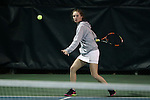 21 February 2017: ASU's Taylor Bygrave (AUS). The University of North Carolina Tar Heels hosted the Appalachian State University Mountaineers at the Cone-Kenfield Tennis Center in Chapel Hill, North Carolina in a Women's College Tennis match. North Carolina won the match 6-1.