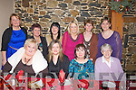 TRAVELLED: Friends travelled from Lixnaw, Ballyduff and Causeway to meet their friends from Ballyduff in Lowe's Bar, ballyduff to marke womens Christmas on Friday night. Front l-r: Theresa and Triona Goggin, Catherine O'Connell and Kate Kane. Back l-r: Eileen Quilter, Patricia Fitzpatrick, Catherine Goggin, Sheila Russell, Helen O'Brien and Margaret O'Connell...