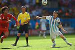 Marouane Fellaini (BEL), Lionel Messi (ARG),<br /> JULY 5, 2014 - Football / Soccer :<br /> FIFA World Cup Brazil 2014 Quarter-finals match between Argentina 1-0 Belgium at Estadio Nacional in Brasilia, Brazil. (Photo by FAR EAST PRESS/AFLO)