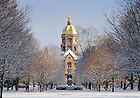 Mar. 21, 2013; Main Building after a snowfall..Photo by Matt Cashore/University of Notre Dame