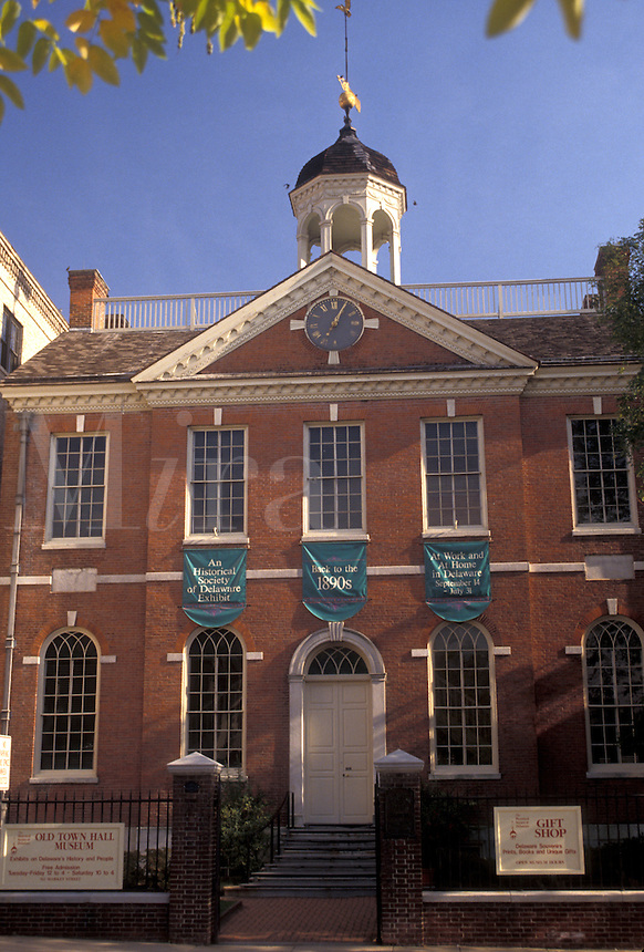 AJ3301, Wilmington, Delaware, Old Town Hall Museum a Federal-style building constructed in 1798-1800 in Wilmington in the state of Delaware.