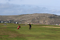 Matt Roberts from Wales on the 10th fairway during Round 2 Singles of the Men's Home Internationals 2018 at Conwy Golf Club, Conwy, Wales on Thursday 13th September 2018.<br /> Picture: Thos Caffrey / Golffile<br /> <br /> All photo usage must carry mandatory copyright credit (&copy; Golffile | Thos Caffrey)