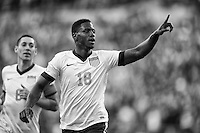 Seattle, Washington - Tuesday, June 11, 2013: USMNT 2-0 over Panama during a World Cup qualifying match at CenturyLink Field. Eddie Johnson celebrates his goal.