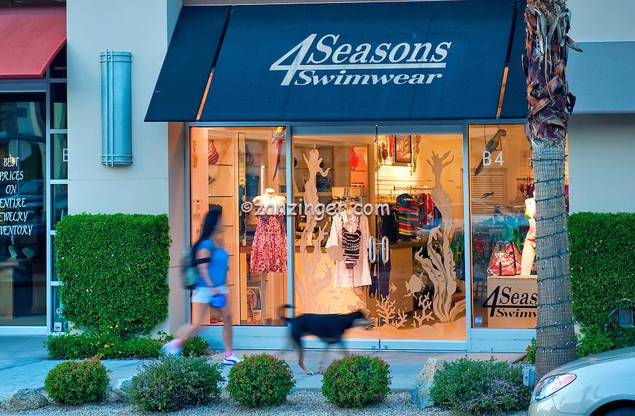 4 Seasons Swimwear, El Paseo, Drive, Palm Desert, CA,Mannequins; retailers;  fashion; haute couture; shopping; CA; California;