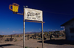 Deserted club sign on old highway Route 66 Barstow California USA