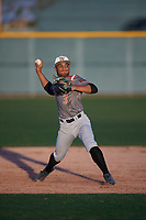 Channing Vernon (3) of Lamar Consolidated High School in Fort Worth, Texas during the Baseball Factory All-America Pre-Season Tournament, powered by Under Armour, on January 13, 2018 at Sloan Park Complex in Mesa, Arizona.  (Mike Janes/Four Seam Images)