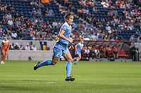 Bridgeview, IL - Saturday July 23, 2016:  Chicago Red Stars forward Jennifer Hoy (2) during a regular season National Women's Soccer League (NWSL) match between the Chicago Red Stars and the Houston Dash at Toyota Park.