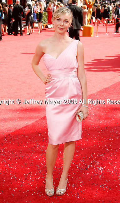 LOS ANGELES, CA. - September 21: Actress Amanda Walsh arrives at the 60th Primetime Emmy Awards at the Nokia Theater on September 21, 2008 in Los Angeles, California.