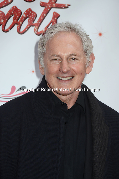 "Victor Garber arrives at the ""Kinky Boots"" Broadway Opening on April 4, 2013 at The Al Hirschfeld Theatre in New York City. Harvey Fierstein wrote is the Book Writer and Cnydi Lauper is the Composer."