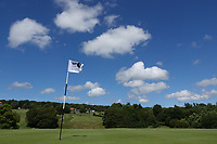A general view from behind the 10th greenin action during the final round of the Hauts de France-Pas de Calais Golf Open, Aa Saint-Omer GC, Saint- Omer, France. 16/06/2019<br /> Picture: Golffile | Phil Inglis<br /> <br /> <br /> All photo usage must carry mandatory copyright credit (© Golffile | Phil Inglis)