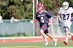 Manhattan Beach, CA 02-11-17 - Liam Villano (Santa Clara #4) in action during the MCLA non-conference game between LMU (SLC) and Santa Clara (WCLL).  Santa Clara defeated LMU 18-3.
