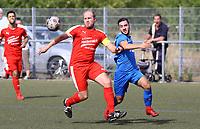 Nick Hölzel (Büttelborn) gegen Marco Defigus (Münster) - Büttelborn 09.09.2018: SKV Büttelborn vs. SV Münster