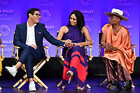 "HOLLYWOOD, CA - MARCH 23: Steven Canals, Mj Rodriguez and Billy Porter at PaleyFest 2019 for FX's ""Pose"" panel at the Dolby Theatre on March 23, 2019 in Hollywood, California. (Photo by Vince Bucci/FX/PictureGroup)"