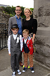 24/05/2015 – St. Mary's Communion – Conor Behan with his parents Shona and Darren and little brother Ciaran.