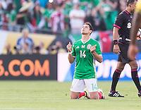 Pasadena, CA - Thursday June 09, 2016: Chicharito during a Copa America Centenario Group C match between Mexico (MEX) and Jamaica (JAM) at Rose Bowl Stadium.