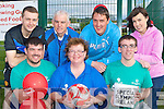 participating in the Soccer marathon in aid of the Special Olympics in Cordal Community Centre on Friday was front row l-r: Ger, Breda and Brian O'Donoghue. Back row: John Harmon, Denny O'Donoghue, Cieran Stack and Mary Sugrue ..