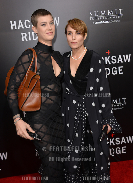 LOS ANGELES, CA. October 24, 2016: Actress Noomi Rapace (right) &amp; guest at the Los Angeles premiere of &quot;Hacksaw Ridge&quot; at The Academy's Samuel Goldwyn Theatre, Beverly Hills.<br /> Picture: Paul Smith/Featureflash/SilverHub 0208 004 5359/ 07711 972644 Editors@silverhubmedia.com