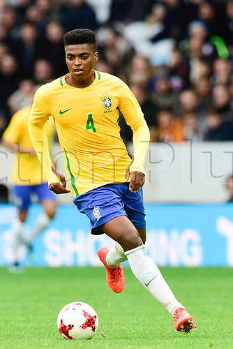 11th November 2017, Stadium Pierre Mauroy, Lille, France; International football friendly in preparation for World Cup 2018 finals;  Jemerson (Bra)