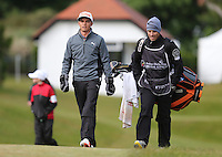 Sunday 31st May 2015; Rickie Fowler, USA, walks up the first fairway<br /> <br /> Dubai Duty Free Irish Open Golf Championship 2015, Round 4 County Down Golf Club, Co. Down. Picture credit: John Dickson / DICKSONDIGITAL