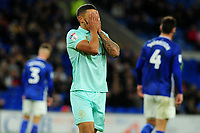 Nahki Wells of Queens Park Rangers looks dejected during the Sky Bet Championship match between Cardiff City and Queens Park Rangers at the Cardiff City Stadium in Cardiff, Wales, UK. Wednesday 02 October, 2019