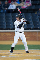 Ben Breazeale (39) of the Wake Forest Demon Deacons at bat against the Kent State Golden Flashes in game two of a double-header at David F. Couch Ballpark on March 4, 2017 in Winston-Salem, North Carolina.  The Demon Deacons defeated the Golden Flashes 5-0.  (Brian Westerholt/Four Seam Images)