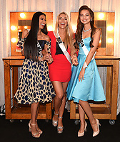 BANGKOK, THAILAND - DECEMBER 15: 2018 MISS UNIVERSE: L-R: Miss Panama Rosa Iveth Montezuma, Miss USA Sarah Rose Summers and Miss Russia Yulia Polyachikhina during rehearsals for the 2018 MISS UNIVERSE competition at the Impact Arena in Bangkok, Thailand on December 15, 2018. Miss Universe will air live on Sunday, Dec. 16 (7:00-10:00 PM ET live/PT tape-delayed) on FOX.  (Photo by Frank Micelotta/FOX/PictureGroup)