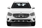 Car photography straight front view of a 2020 Mercedes Benz GLC-Class GLC300 5 Door SUV Front View