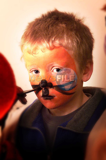 Barry O'Sullivan from Ardcath having his face painted at the Earthquake fundraiser at Sonairte..Picture: Paul Mohan/Newsfile