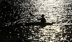 A kayaker passes Ski Beach in Incline Village, Nev., at sunset Friday, Oct. 15, 2010. .Photo by Cathleen Allison