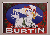 Europe/France/Champagne-Ardenne/51/Marne/Epernay : Musée municipal - Affichette champagne Burtin - 1930