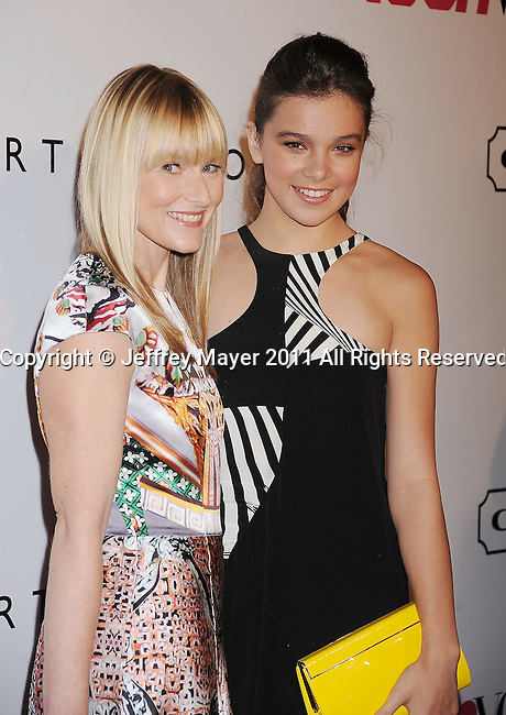 HOLLYWOOD, CA - SEPTEMBER 23: Amy Astley;Hailee Steinfeld arrive at the 9th Annual Teen Vogue Young Hollywood Party at Paramount Studios on September 23, 2011 in Hollywood, California.
