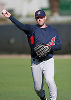 Cleveland Indians minor leaguer Matt Robinson during Spring Training at the Chain of Lakes Complex on March 17, 2007 in Winter Haven, Florida.  (Mike Janes/Four Seam Images)