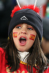 21 JUN 2010:  Young Spanish fan in the stands.  The Spain National Team played the Honduras National Team at Ellis Park Stadium in Johannesburg, South Africa in a 2010 FIFA World Cup Group C match.