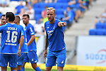 11.08.2018, Wirsol-Rhein-Neckar-Arena, Sinsheim, GER, Testspiel, TSG 1899 Hoffenheim vs SD Eibar, <br /> <br /> DFL REGULATIONS PROHIBIT ANY USE OF PHOTOGRAPHS AS IMAGE SEQUENCES AND/OR QUASI-VIDEO.<br /> <br /> im Bild: Kevin Vogt (TSG Hoffenheim #22)<br /> <br /> Foto &copy; nordphoto / Fabisch