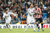 Real Madrid CF vs Athletic Club de Bilbao (5-1) at Santiago Bernabeu stadium. The picture shows Sergio Ramos and Jon Aurtenetxe. November 17, 2012. (ALTERPHOTOS/Caro Marin) NortePhoto