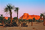 Sunrise in the oasis village of Gouro, in the Tibesti region of northern Chad, near the Libyan border.