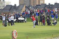 Jon Rahm (ESP) on the 18th fairway during Round 4 of the Open de Espana 2018 at Centro Nacional de Golf on Sunday 15th April 2018.<br /> Picture:  Thos Caffrey / www.golffile.ie<br /> <br /> All photo usage must carry mandatory copyright credit (&copy; Golffile | Thos Caffrey)
