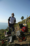 Pierro Moggia responsable de la cooperative des vignobles de Manarola Riomaggiore. Parc national des Cinque Terre. Ligurie. Italie