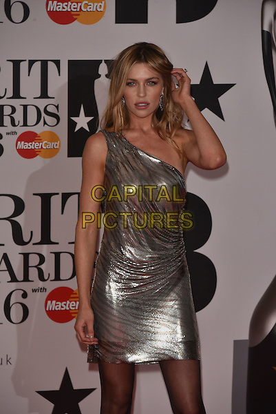 LONDON, ENGLAND - FEBRUARY 24: Abbey Clancey attends the BRIT Awards 2016 at The O2 Arena on February 24, 2016 in London, England<br /> CAP/PL<br /> &copy;Phil Loftus/Capital Pictures