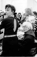 Andy Warhol (; born Andrew Warhola; August 6, 1928 – February 22. Milano, 22 gennaio 1987 Palazzo delle Stelline, Mostra sponsorizzata dal Credito Valtellinese. Andy Worhol inaugura la mostra dedicato a Leonardo sul Cenacolo. © Leonardo Cendamo