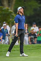 Tommy Fleetwood (ENG) reacts to barely missing his birdie putt on 15 during round 3 of the World Golf Championships, Mexico, Club De Golf Chapultepec, Mexico City, Mexico. 2/23/2019.<br /> Picture: Golffile | Ken Murray<br /> <br /> <br /> All photo usage must carry mandatory copyright credit (© Golffile | Ken Murray)