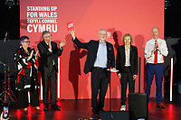 Pictured: Jeremy Corbyn (C) with L-R First Minister for Wales Mark Drakeford, Carolyn Harris MP Christina Rees MP and Geraint Davies MP at the Patti Pavilion in Swansea, Wales, UK. Saturday 07 December 2019<br /> Re: Labour Party leader Jeremy Corbyn pre-election campaign  at the Patti Pavilion in Swansea, Wales, UK.