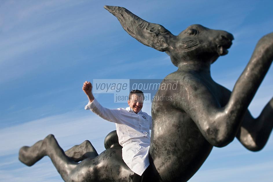 Europe/France/Aquitaine/33/Gironde/Martillac: Les sources de Caudalie,  Nicolas Masse, chef des restaurants: Grand'Vigne et La Table du Lavoir  [Non destiné à un usage publicitaire - Not intended for an advertising use]