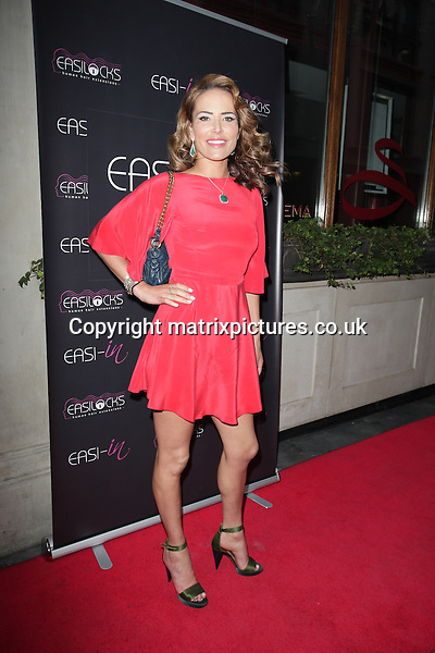 NON EXCLUSIVE PICTURE: MATRIXPICTURES.CO.UK<br /> PLEASE CREDIT ALL USES<br /> <br /> WORLD RIGHTS<br /> <br /> English model Sophie Anderton attending the Easilocks launch party at London's Sanctum Hotel.<br /> <br /> JULY 9th 2013<br /> <br /> REF: GBH 134704
