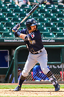 San Antonio Missions outfielder Nate Orf (6) at bat during a Pacific Coast League game against the Iowa Cubs on May 2, 2019 at Principal Park in Des Moines, Iowa. Iowa defeated San Antonio 8-6. (Brad Krause/Four Seam Images)