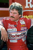 DAYTONA BEACH, FL - FEBRUARY 14: Terry Labonte waits to drive his Junior Johnson Chevrolet during practice for the Daytona 500 NASCAR Winston Cup race at the Daytona International Speedway in Daytona Beach, Florida, on February 14, 1988.